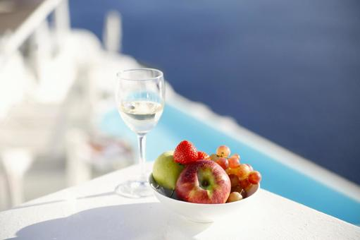 Meals at Santorini island of the Aegean Sea 16