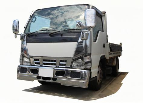 Construction site truck (PSD / cutout)