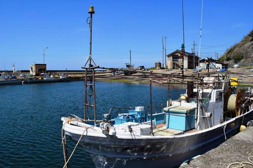 Scenery of the harbor Shonai beach, Yamagata prefecture