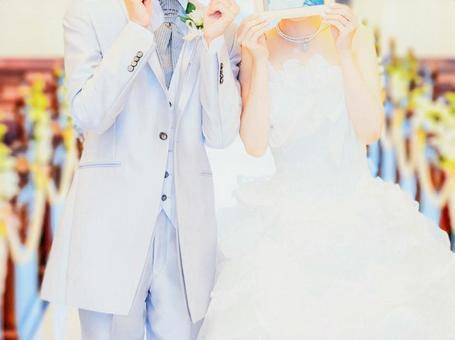 新婚夫婦享受照片婚禮②