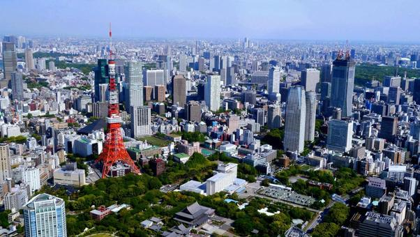 Tokyo seen from the sky