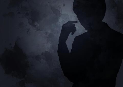 Suspicious male silhouette