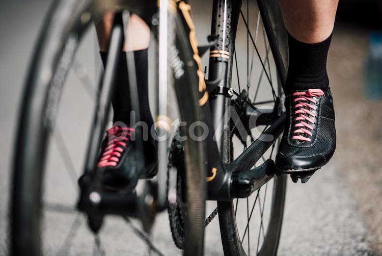 自転車に乗る人の足元12の写真