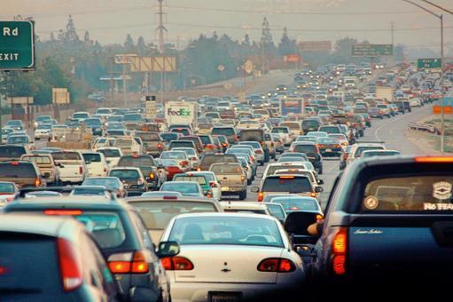 American highway traffic congestion