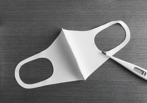 3D mask and thermometer