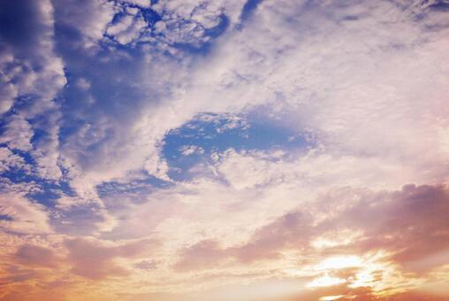 Blue sky_sunset_background_29