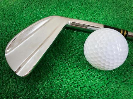 Golf club / Golf practice / Golf ball / Artificial turf / Short iron club / Sports