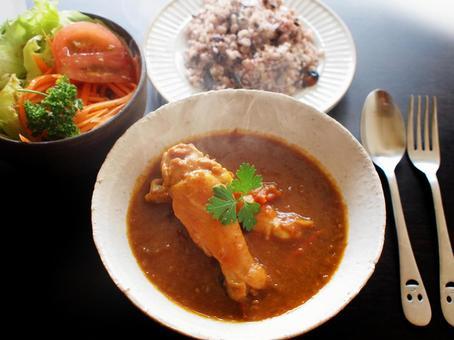 인도 치킨 카레 세트