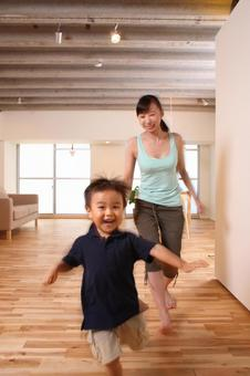 Children running in the room 12
