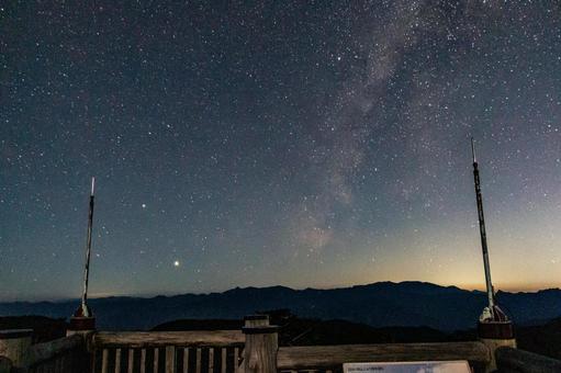 Milky Way seen from the summit of Mt. Odaigahara