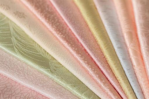純真絲織物obi炒美麗多彩什錦的背景美麗容光煥發左