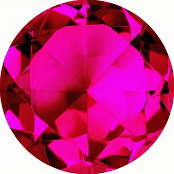 Pigeon Blood Ruby Color Crystal (with Cut Pass)