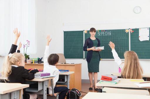 教师教学,小学生1