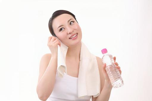 Female with plastic bottle 12