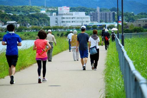 Jogging & walking