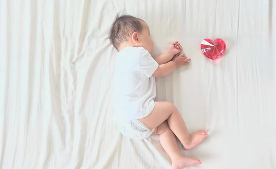 Baby and heart interior