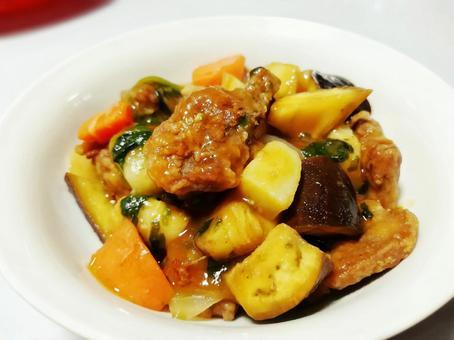豚肉の野菜のチリソース
