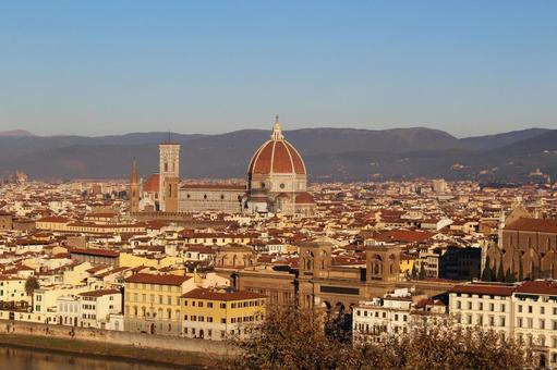 해외 여행 이탈리아 피렌체 미켈란젤로 광장에서 촬영 한 전망 006