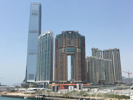 홍콩 풍경 서쪽 구룡의 개발