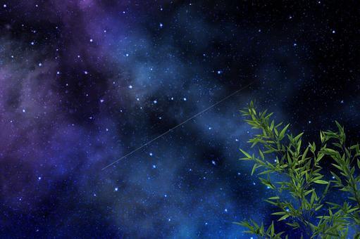 莎莎與銀河 | 七夕的背景素材