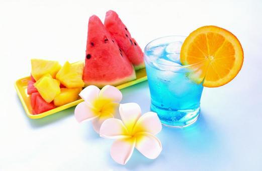 夏季/熱帶【西瓜/菠蘿/橙/藍夏威夷果汁】