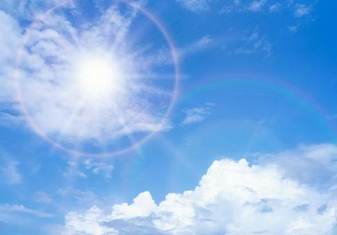 Summer shining sun ultraviolet rays