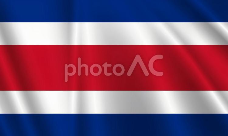 コスタリカ国旗の写真