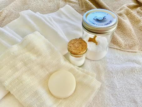 목욕 용품 목욕 소금 수건 비누 스킨 크림 바디 타올