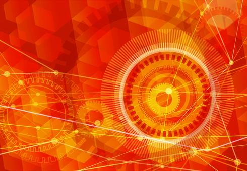 Red network technology abstract background material