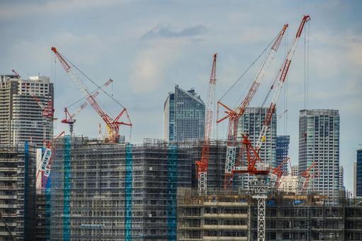 Harumi Pier Construction Scene (Olympic Village)
