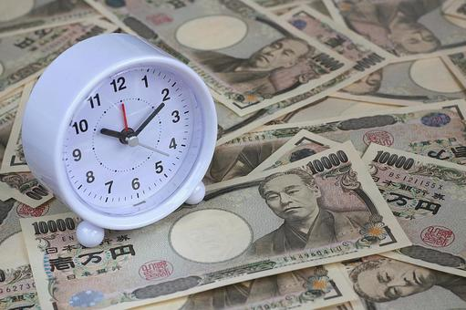 Watch and paper money