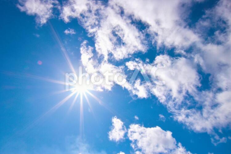ふんわり雲の空 0514の写真