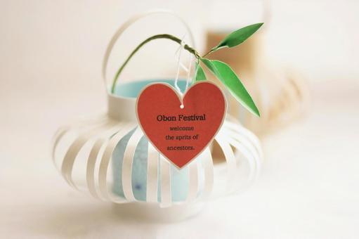 Obon lantern paper craft