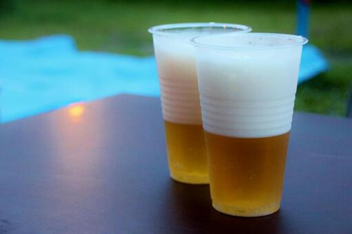 Draft beer outside 1