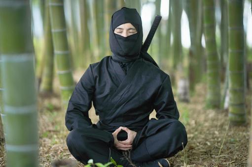 Ninja in meditation