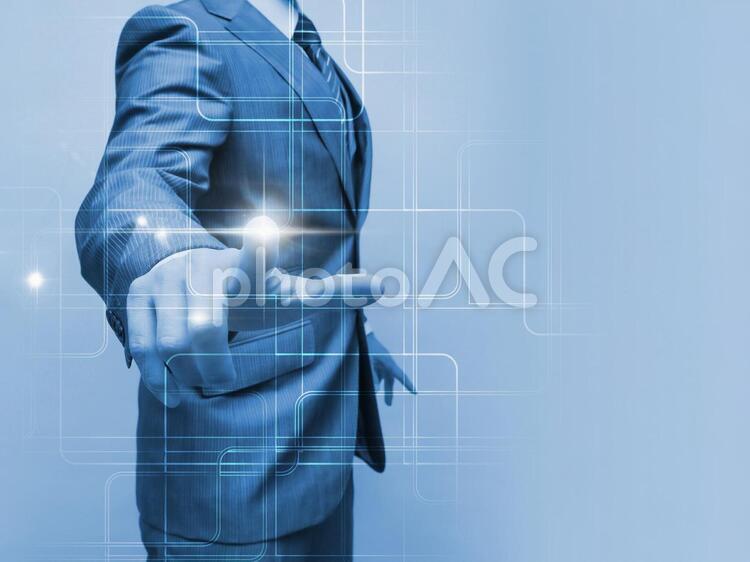 テクノロジーイメージ【ブルー】の写真