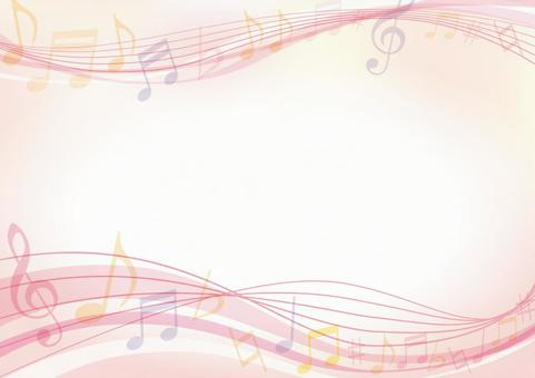 Pink music frame background material texture