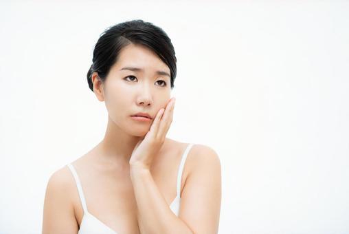 미용 이미지 여성의 얼굴