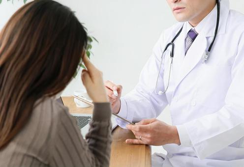 Doctor and doctor with headache