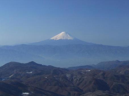 金峰山에서 후지산