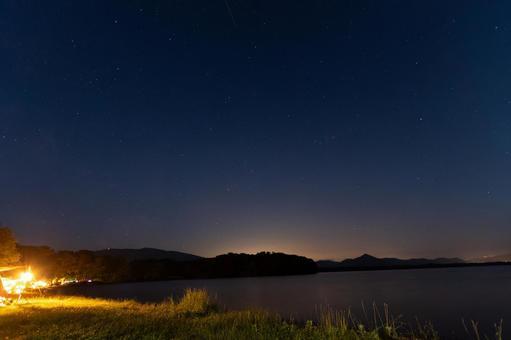 從露營地看到的星空