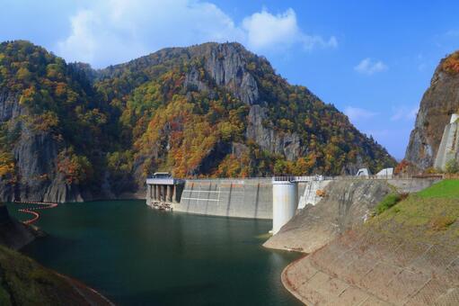 가을 豊平峡 댐 2