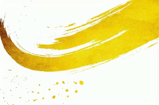 Gold leaf and abstract brush letters | Japanese-style background material