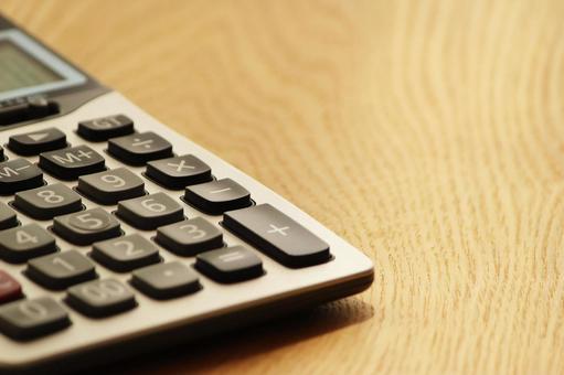 책상 위에 계산기