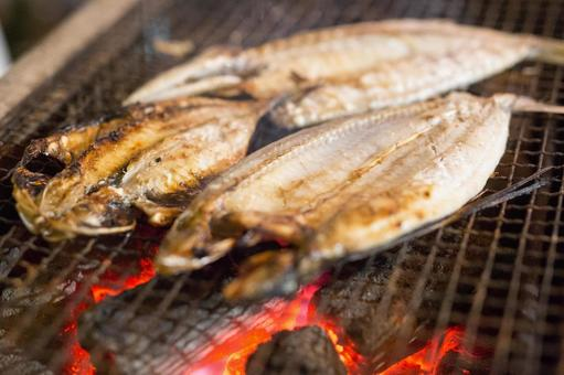 Char-grilled bread of dried horse mackerel