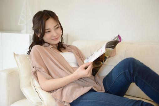 Woman reading 12