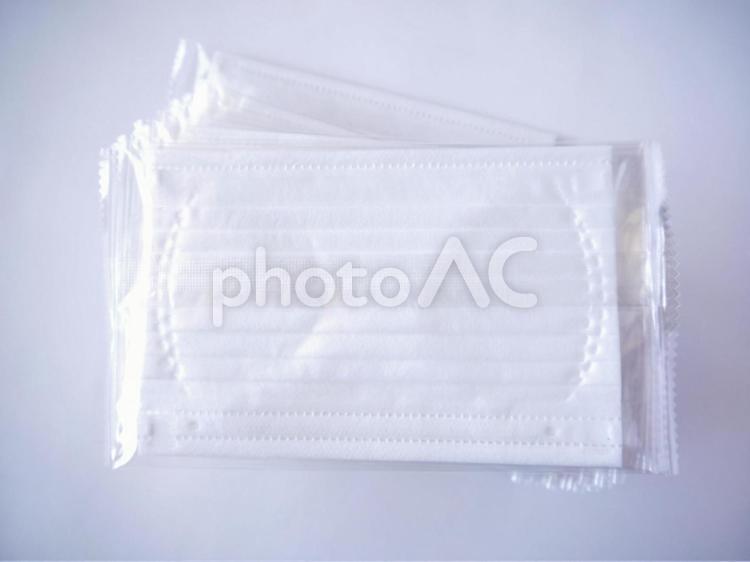 使い捨てマスク(9)不織布マスクの写真