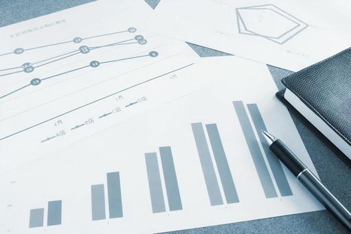 Business materials Blue