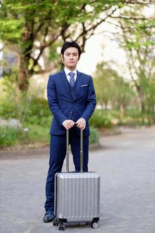 Hotel man with a carry bag