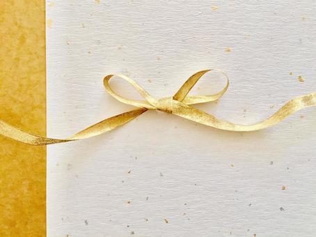 Noshi style (Kotobuki x ocher gold ribbon)